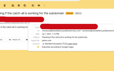 Set up catch-all for your subdomain in Google workspace